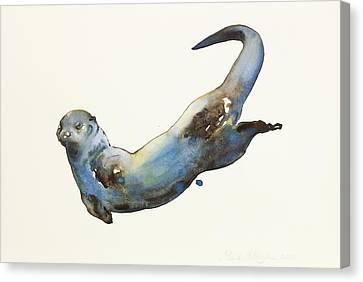 Aqua Canvas Print by Mark Adlington