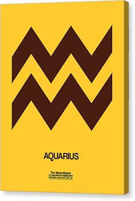 Aquarius Zodiac Sign Brown Canvas Print by Naxart Studio