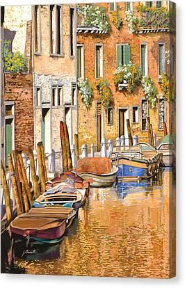 Arancio Sul Canale Canvas Print by Guido Borelli