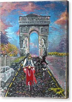 Arc De Triomphe Canvas Print by Alana Meyers