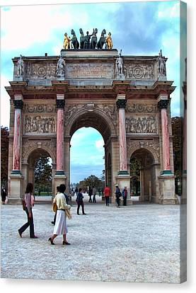 Arc De Triomphe Canvas Print by Paris  France