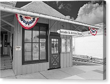 Arcade And Attica Depot Canvas Print by Guy Whiteley