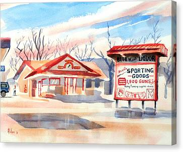 Arcadia Sporting Goods In Autumn Glow Canvas Print by Kip DeVore