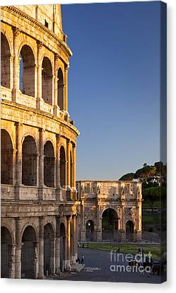 Arch And Coliseum  Canvas Print by Brian Jannsen