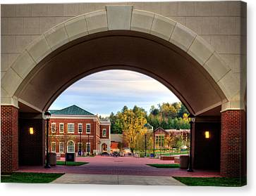 Arch At Balsam Hall - Western Carolina University Canvas Print by Greg and Chrystal Mimbs