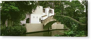 Arch Bridge At San Antonio River Walk Canvas Print by Panoramic Images