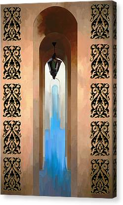 Arch Entrance Canvas Print by Israa Qafisheh