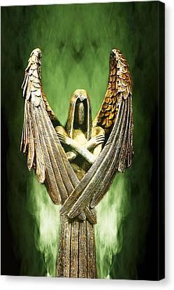 Archangel Azrael Canvas Print by Bill Tiepelman
