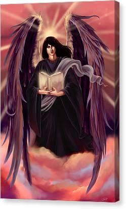 Archangel Azrael Canvas Print by Dawn Marshall