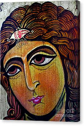Archangel Gabriel Icon Canvas Print by Ryszard Sleczka
