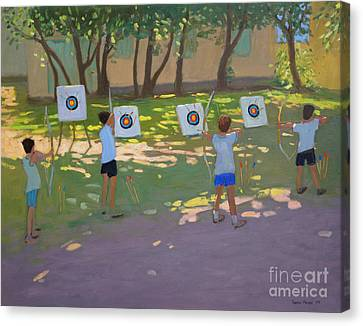 Archery Practice  France Canvas Print by Andrew Macara