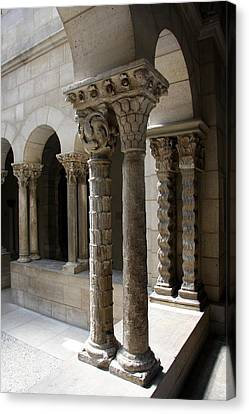 Arches And Columns - Cloister Nyc Canvas Print by Christiane Schulze Art And Photography