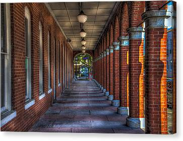 Arches And Columns Canvas Print by Marvin Spates