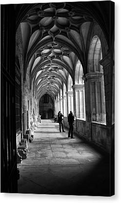 Arches In Leon Spain Canvas Print by Tom Bell