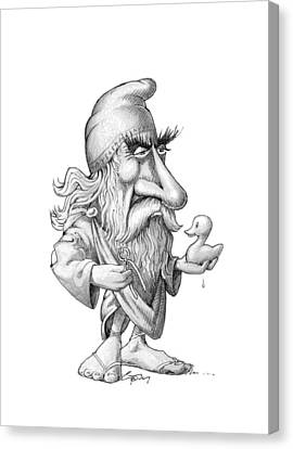 Archimedes, Caricature Canvas Print by Science Photo Library