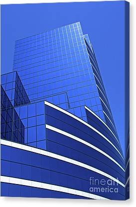 Architectural Blues Canvas Print by Ann Horn