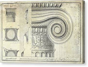 Architectural Capital Canvas Print by Jon Neidert