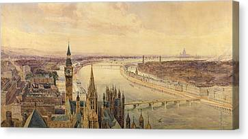 Architectural Panorama Of A Proposed Canvas Print by Henry Newton