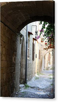Archway Rhodos City Canvas Print by Christiane Schulze Art And Photography