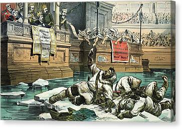 Arctic Exploration Debate, 1882 Satire Canvas Print by Science Photo Library