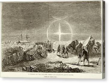 Arctic Funeral And Moon Dogs Canvas Print by British Library
