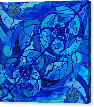 Arcturian Calming Grid Canvas Print by Teal Eye  Print Store