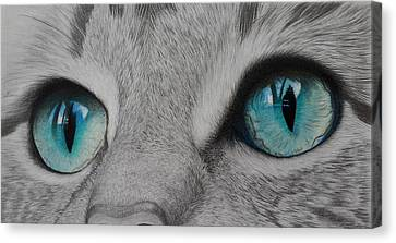 Are You Talking To Me Canvas Print by Anik
