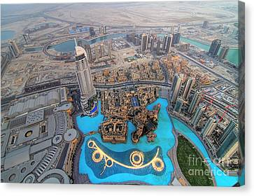 Areal View Over Dubai Canvas Print by Lars Ruecker