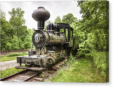 Argent Lumber Company Engine No. 4 - Antique Steam Locomotive Canvas Print by Gary Heller