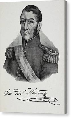 Argentinian Soldier In Military Uniform Canvas Print by British Library