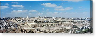 Ariel View Of The Western Wall Canvas Print by Panoramic Images