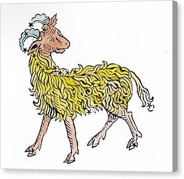 Aries An Illustration From The Poeticon Canvas Print by Italian School