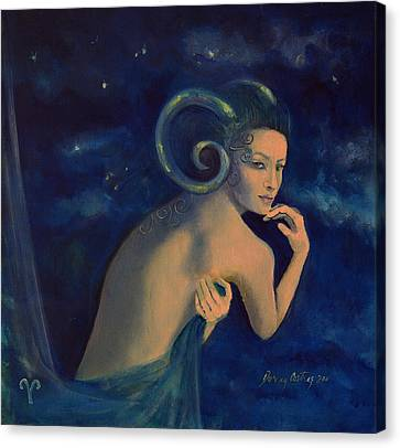Aries From Zodiac Series Canvas Print by Dorina  Costras