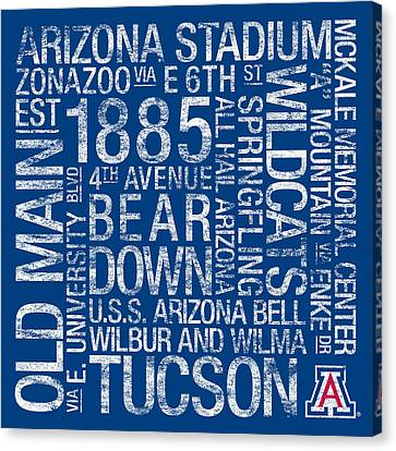 Arizona College Colors Subway Art Canvas Print by Replay Photos