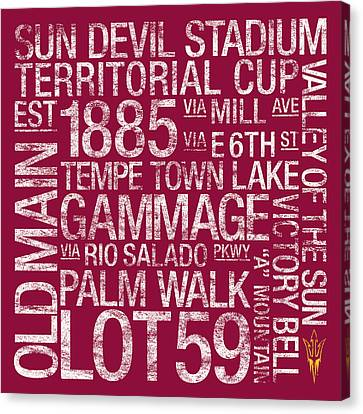 Arizona State College Colors Subway Art Canvas Print by Replay Photos