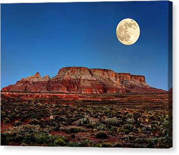 Arizona Supermoon 003 Canvas Print by Lance Vaughn