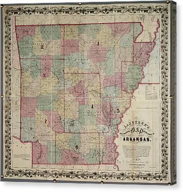 Arkansas Canvas Print by British Library