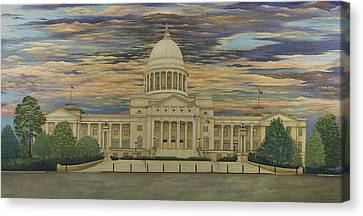 Arkansas State Capitol Canvas Print by Mary Ann King