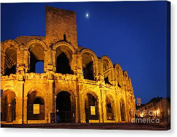 Arles Roman Arena Canvas Print by Inge Johnsson