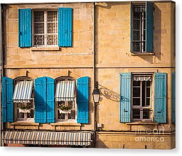 Arles Windows Canvas Print by Inge Johnsson