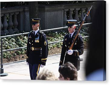 Arlington National Cemetery - Tomb Of The Unknown Soldier - 121222 Canvas Print by DC Photographer