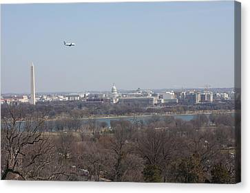Arlington National Cemetery - View From Arlington House - 12122 Canvas Print by DC Photographer