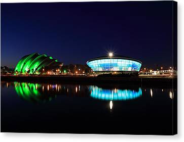 Armadillo And The Hydro At Night Canvas Print by Maria Gaellman