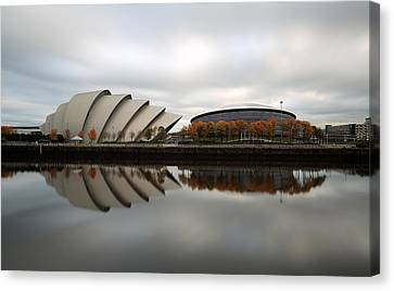 Armadillo And The Hydro In Autumn Canvas Print by Maria Gaellman