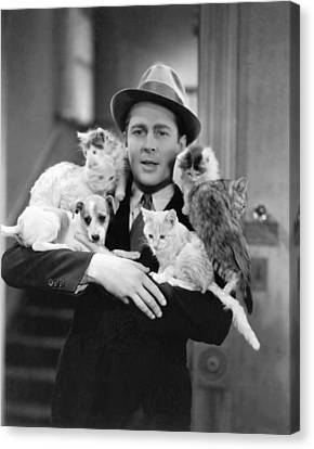 Armful Of Cats And Dogs Canvas Print by Underwood Archives