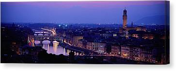 Arno River Florence Italy Canvas Print by Panoramic Images