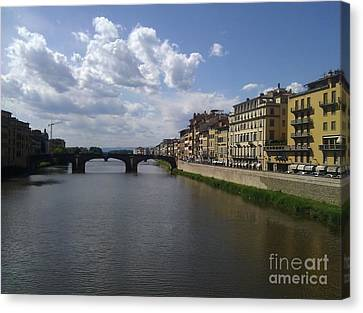 Arno River Canvas Print by Ted Williams