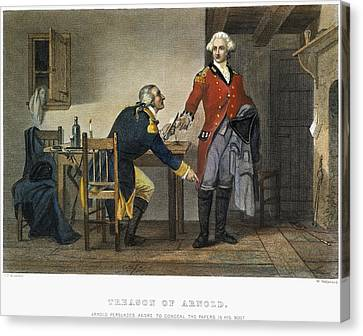 Arnold And Andre, 1780 Canvas Print by Granger