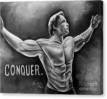 Arnold Schwarzenegger / Conquer Canvas Print by Anastasis  Anastasi