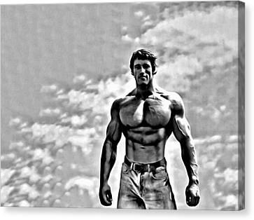 Arnold Schwarzenegger Canvas Print by Florian Rodarte